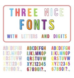Hand drawn font set handwriting alphabet abc vector