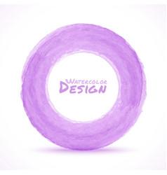 Hand drawn watercolor light purple circle design e vector image vector image