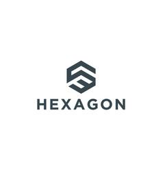 Initial hexagon logo design inspiration vector