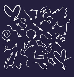 Ink doodle arrows handwriting scribble sketch vector