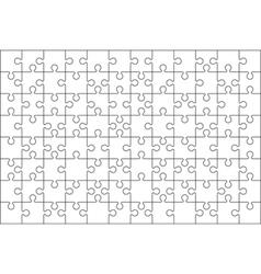 jigzaw puzzle background vector image