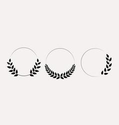 laurel wreath collection set eps10 vector image