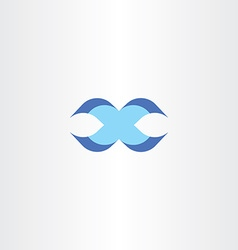 letter x blue sign logotype icon design vector image