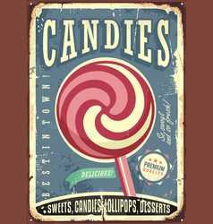 lollipop retro sign design vector image