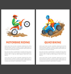 man driving on motorcycle extreme sport vector image