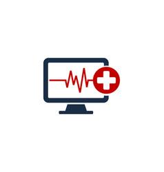 Medical computer logo icon design vector