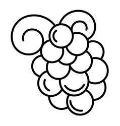 Merlot grape icon outline style vector