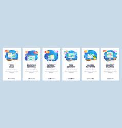 mobile app onboarding screens computer vector image