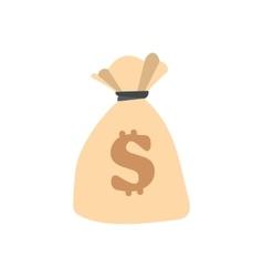 Money bag or sack flat vector