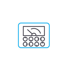 monitoring of indicators linear icon concept vector image