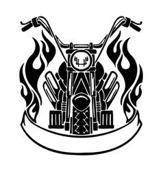 Motorcycle logo template - sign bike motor vector