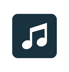 Music icon Rounded squares button vector