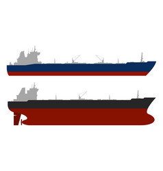 oil tankerss set vector image