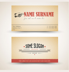 Old-style retro vintage business card template vector