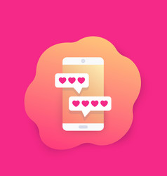 Online dating app and chat icon vector