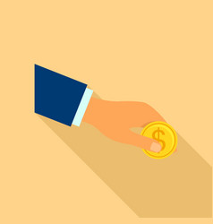 payment icon flat style vector image