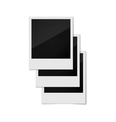 Photo frames on a white background vector image