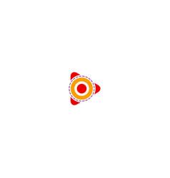 play button target logo vector image
