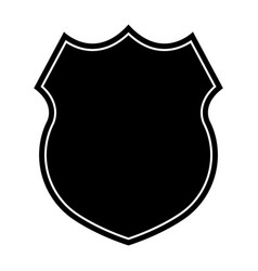 police badge icon flat design vector image