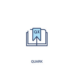 Quark concept 2 colored icon simple line element vector