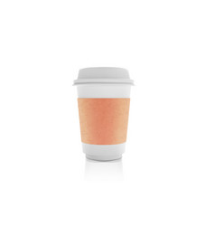 realistic white paper coffee cup cafe latte vector image