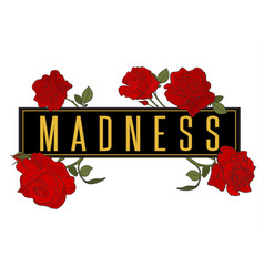 rose madness t shirt illutration red graphic vector image