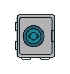 Safe box flat isolated icon vector