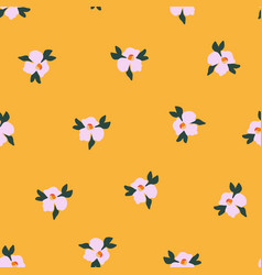seamless ditsy flower pattern delicate vector image