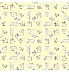 Seamless pattern on the topic of education vector image
