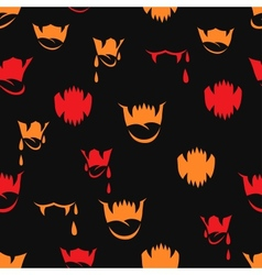Seamless pattern with sharp teeth halloween vector