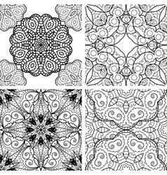 Set of patterns with circle ornament vector image