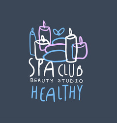 spa club beauty and healthy studio logo badge vector image