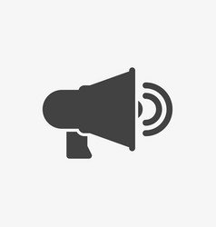 speaker icon technology icon glyph solid style vector image
