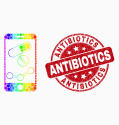 spectral pixel mobile pharmacy chart icon vector image