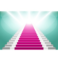 staircase with pink carpet Large resolution 3d vector image