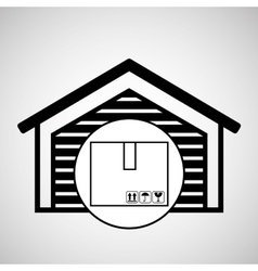 Storage building cardboard box delivery icon vector