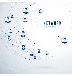 structure social media network global vector image