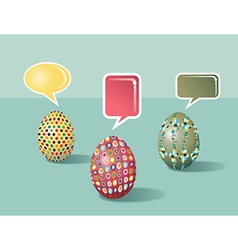 Talking social media easter eggs vector