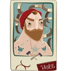 Taurus man vector image