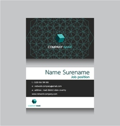 Technology business name card vector