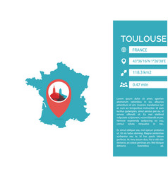 Toulouse map infographic vector