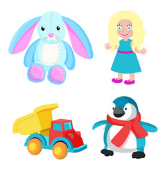 Toys produced at santa factory vector