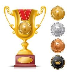 Trophy cup vector