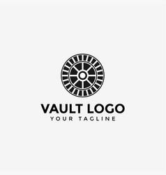 Vault logo design template vector