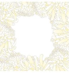 White chrysanthemum flower border vector