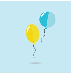 Yellow and blue balloons vector