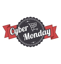 Cyber monday label vector