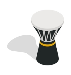 Darbuka percussive musical instrument icon vector image vector image