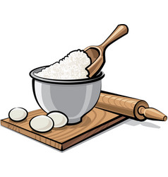 flour and eggs vector image vector image