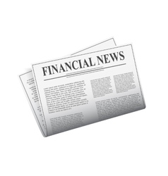 Newspaper isolated on white background vector image